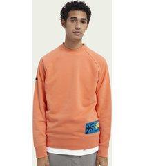 scotch & soda raglansweater met grafisch label