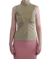 nylon turtleneck top blouse