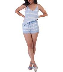 tie-dye frayed-hem shorts