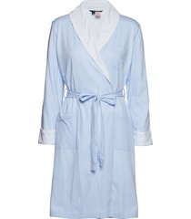 lrl essential short shawl collar robe morgonrock blå lauren ralph lauren homewear