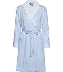 lrl essential short shawl collar robe morgonrock blå lauren ralph lauren homewear