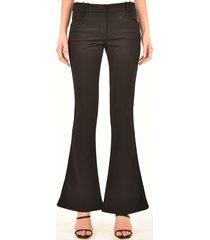balmain black flared pants