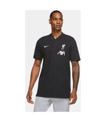 camisa polo nike sportswear liverpool masculina