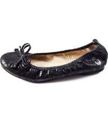 baleta cuero negro versilia eliana/003513