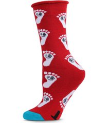 back on your feet greeting card women's socks