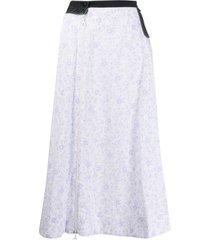 marine serre floral print skirt - white