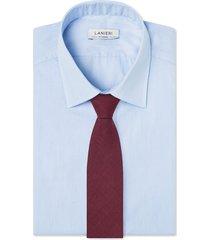 cravatta su misura, loro piana, lino lana seta bordeaux, primavera estate | lanieri