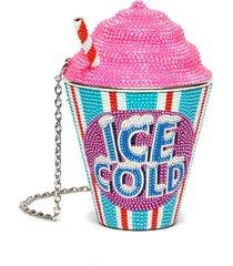 frozen drink ice cold' crystal embellished crossbody bag