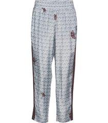 pants in savannah print w. elastic casual byxor blå coster copenhagen
