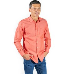 camisa naranja pato pampa corte clasico lisa