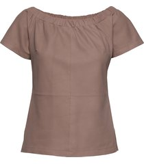 top with short sleeves t-shirts & tops short-sleeved roze depeche