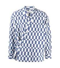 ambush jaqueta xadrez - azul