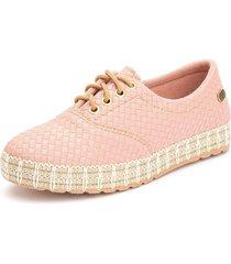 tãªnis sapatãªnis casual  ousy shoes fã¡cil calce rosa - rosa - feminino - couro sintã©tico - dafiti