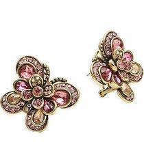 rhinestone butterfly stud earrings