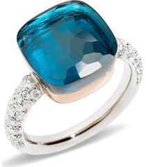women's pomellato nudo maxi stone & diamond ring