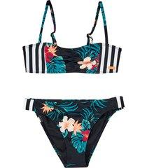 bikini roxy sunkissed bandeau set