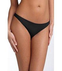 women's felina 'sublime' thong, size medium - black
