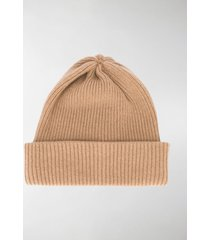 max mara cashmere ribbed-knit beanie