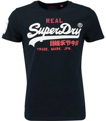 t-shirt vintage donkerblauw
