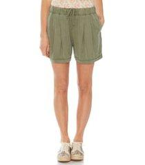 women's vince camuto drawstring twill shorts