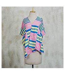 cotton blend kente cloth scarf, 'faith' (13 inch width) (ghana)