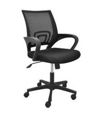 cadeira de escritório diretor giratória santiago preto