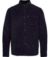 august cord shirt skjorta casual blå lexington clothing