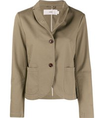 closed single-breasted relaxed blazer - green