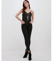 motivi jeans nero skinny push up donna nero