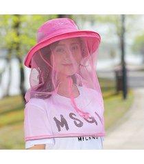 nuevo sombrero de malla para sol al aire libre rosa