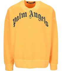 palm angels curved logo crerwneck sweatshirt