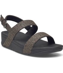 lottie glitter stripe back-strap sandals shoes summer shoes flat sandals svart fitflop