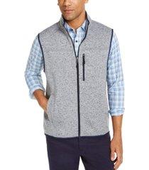 club room men's solid fleece sweater vest, created for macy's