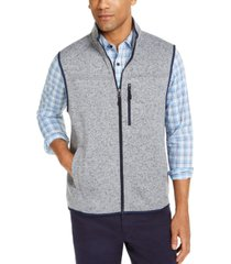 club room men's solid fleece sweater vest, created for macy's