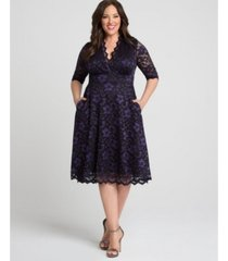 kiyonna women's plus size mon cherie lace dress
