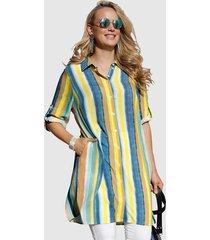 blouse miamoda geel::blauw::groen