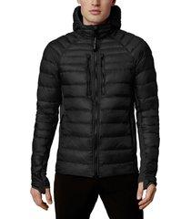 men's canada goose hybridge lite 800 fill power hooded jacket, size xx-large - black