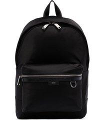 hugo hugo boss meridian zip-up backpack - black