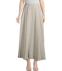 ambria linen-blend a-line maxi skirt