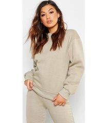 basic oversized sweater met ronde hals, grijs