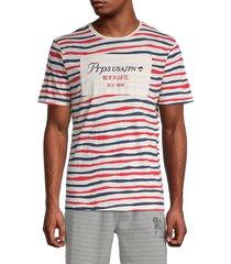 prps men's striped logo cotton tee - eggshell - size xl