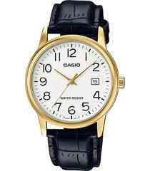 reloj casio caballero elegante mtp-v002gl-7b2 color negro