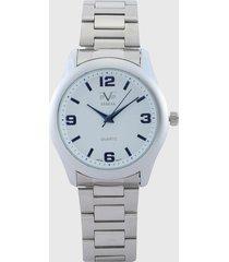 reloj plateado-blanco versace 19.69