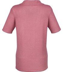 kortärmad tröja med krage och dragkedja paola rosa