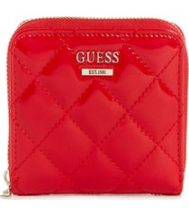 billetera melise slg small zip around rojo guess