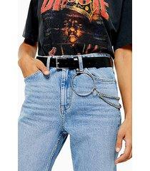 vinyl chain belt - black