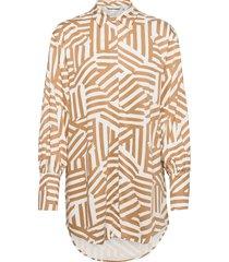 nucreek shirt overhemd met lange mouwen oranje nümph