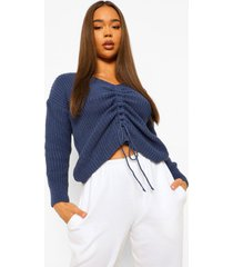 geplooide crop top, blue
