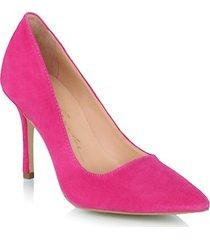 scarpin camurça rosa