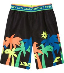 stella mccartney kids black bermuda